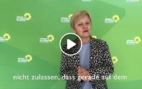 Frau Renate Künast - Screenshot ihres fb Beitrags